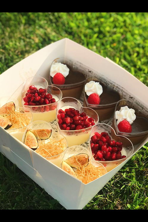 Assorted mousse cups (serves 9)
