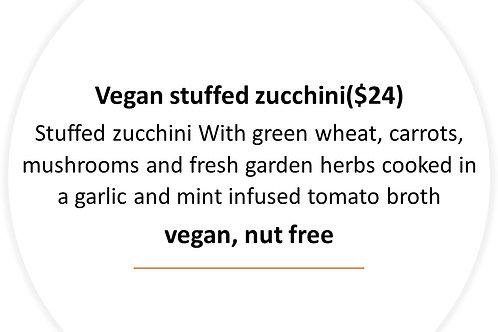 Vegan stuffed zucchini