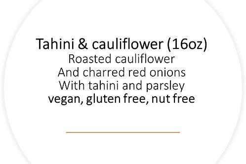 Tahini and cauliflower