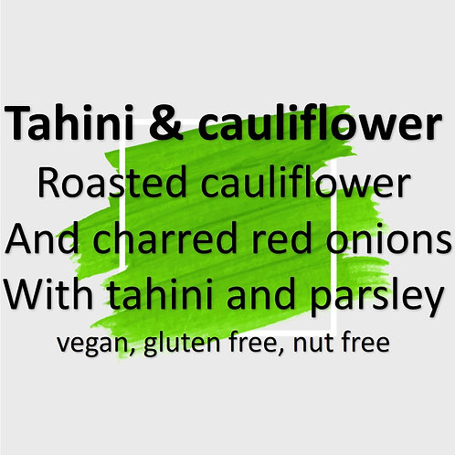 Tahini and cauliflower