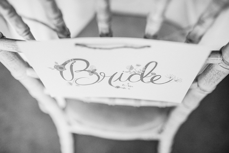 Custom bride chair