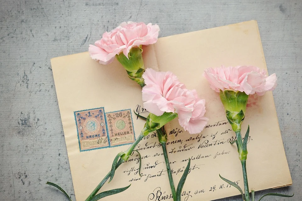 Letter with flowers