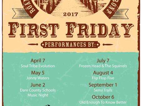 Manteo First Friday Music Lineup