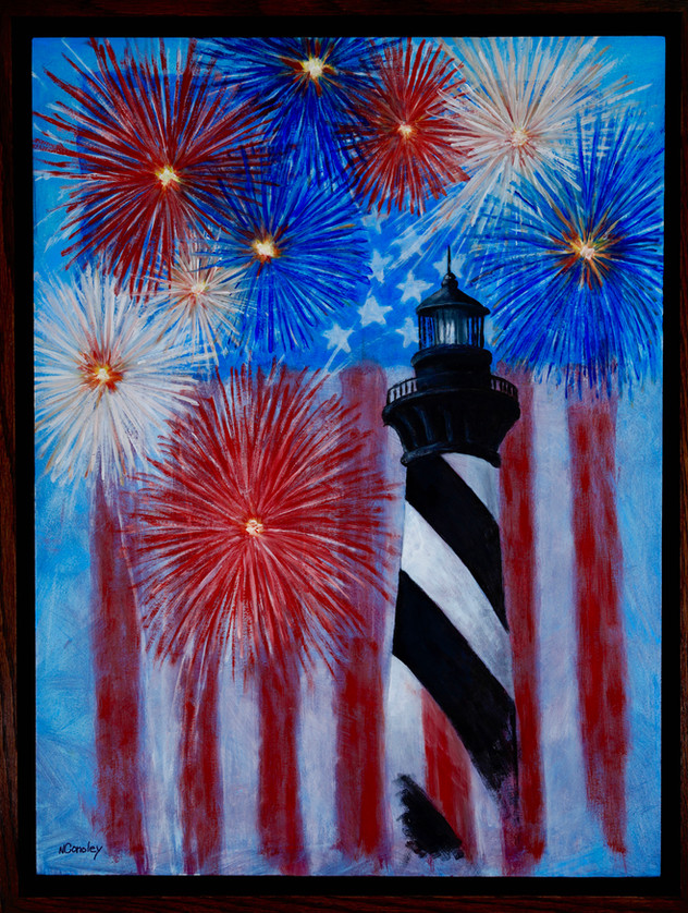 Cape Hatteras Light oil painting by Neal Conoley