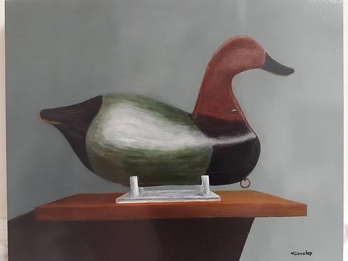 """Alvirah Wright Canvas Back Decoy"""