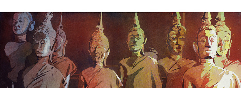 Buddha Statues- Laos by Ryan Fox