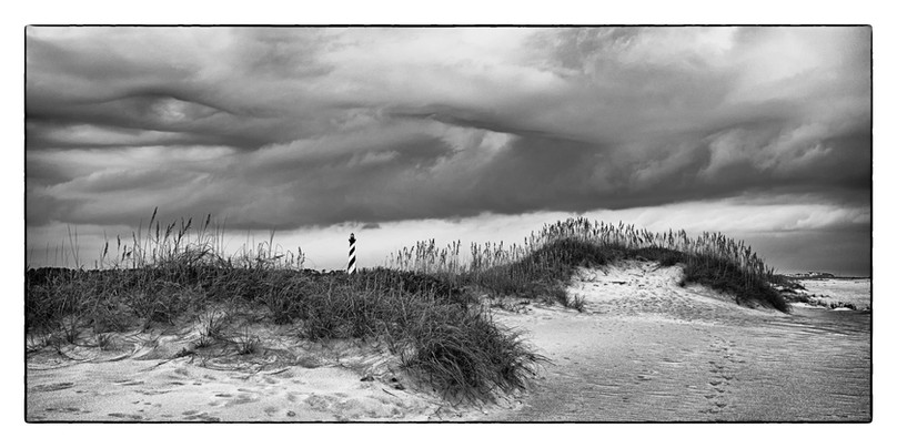 Stormy Light Hatteras by Pete Lewando