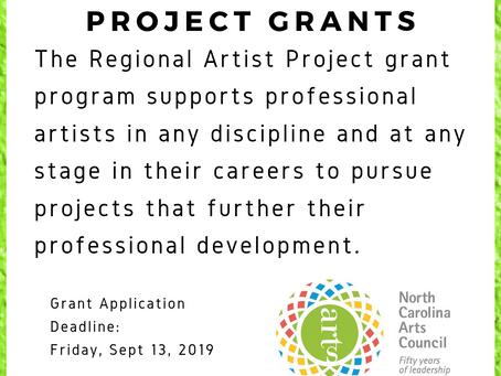 EASTERN N.C. ARTS COUNCILS SEEK APPLICATIONS FOR REGIONAL ARTIST PROJECT GRANTS