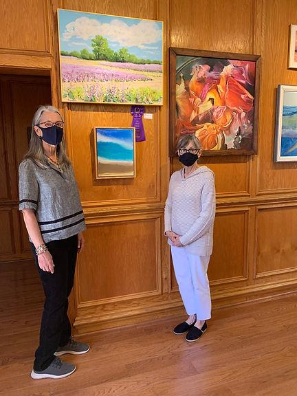 Judge Susan Evans and DCAC Gallery Direc