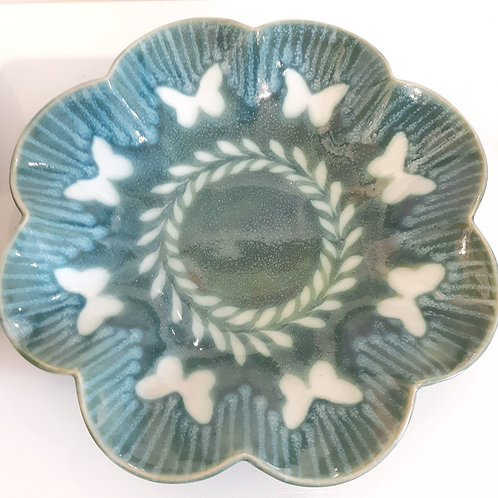"""Butterfly Scalloped Platter"""