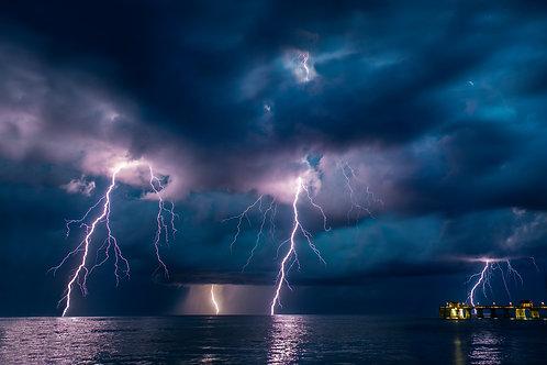 """""""Lightning at Jennette's Pier"""""""