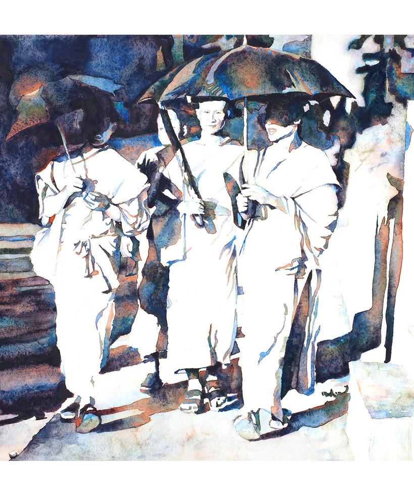 Monks Luang Prabang Laos by Ryan Fox