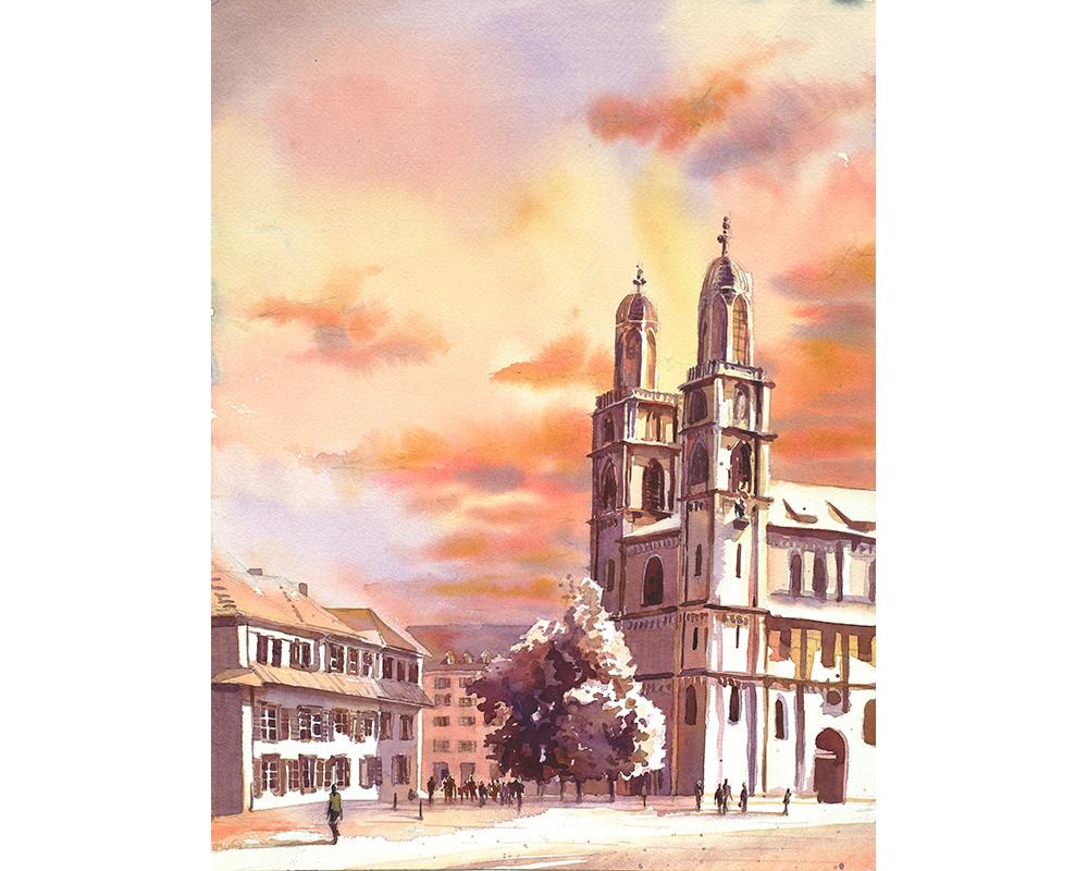 Zurich Church by Ryan Fox