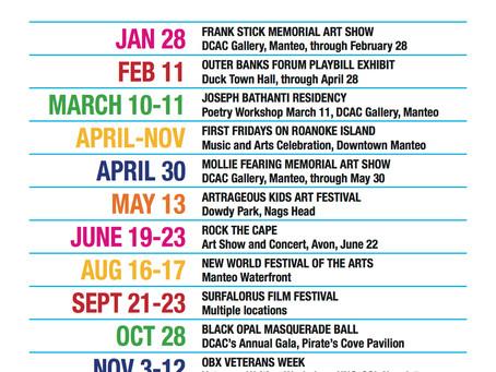 Dare County Arts Council Announces 2017 Keystone Events