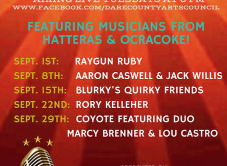 Dare County Arts Council's Courthouse Sessions Travel Down South