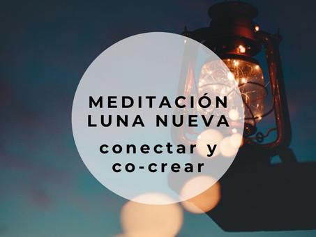 Meditación de luna nueva – conectar y co-crear