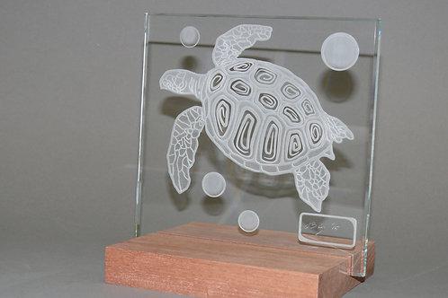 Sandblasted Sea Turtle Sculpture