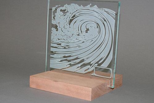 Sandblasted Wave Sculpture