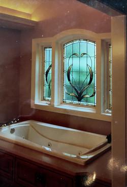 bathroom window vines