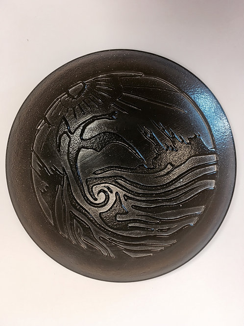 Molded Glass Dragon Paperweight