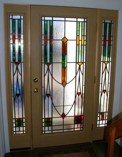 front door and sidelights deco
