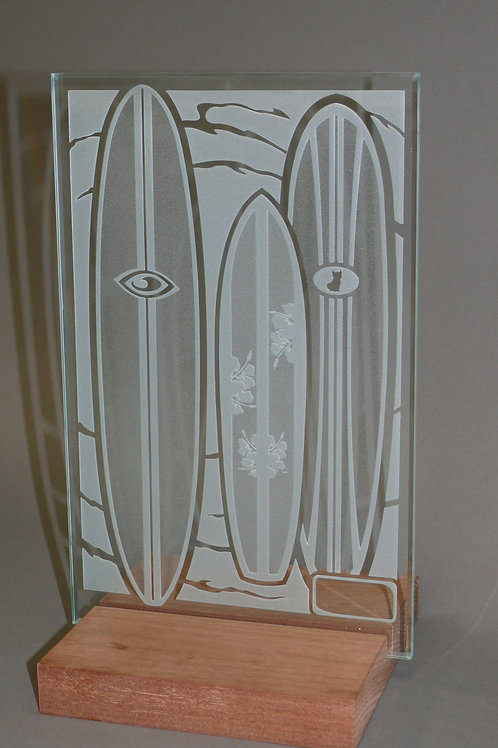 Sandblasted Surfboard Sculpture