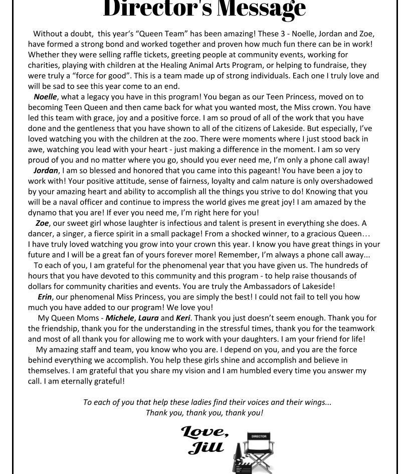 Directors Letter
