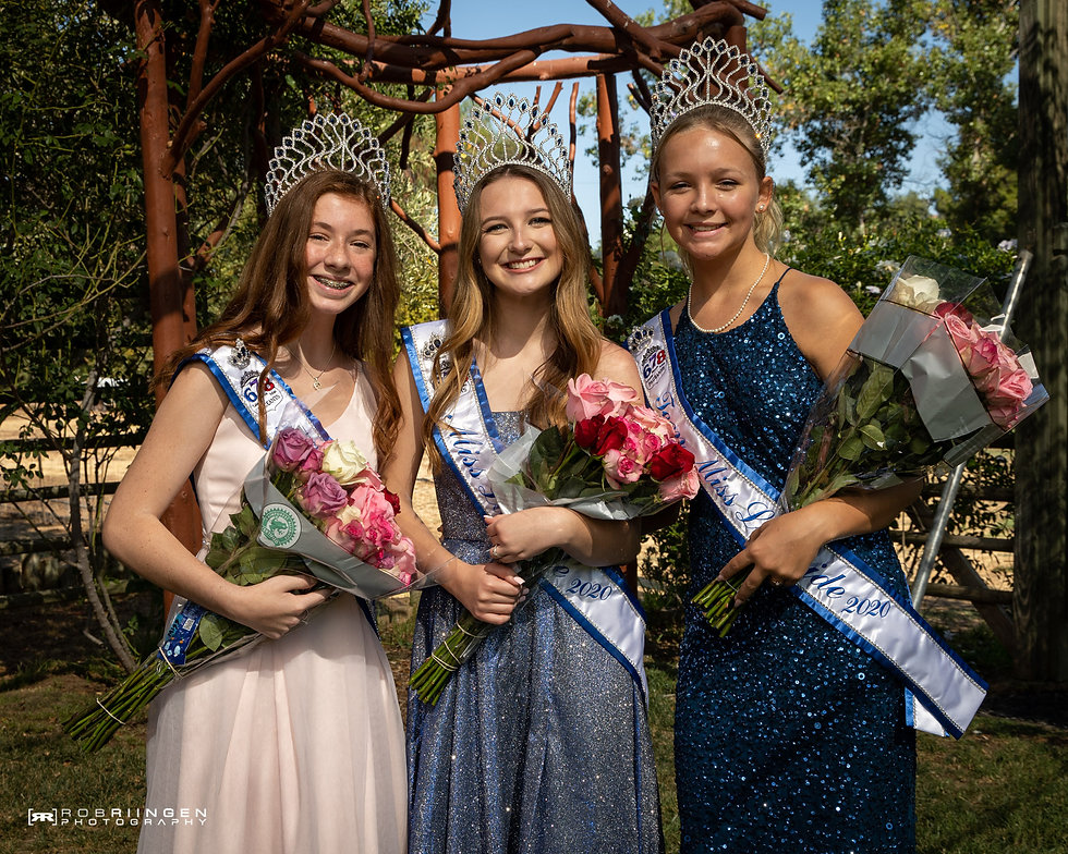 Miss Lakeside Trinity Stewart, Teen Lakeside Brylee Cox, PreTeen Lakeside Priscilla Guidi. Lakeside Queens