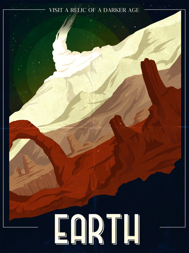 Earth Travel Poster