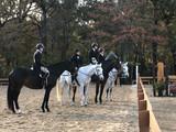 Girls preparing for the Hunter Derby