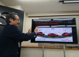 NBオンラインのコラムで、エンジンで操安性を向上させるマツダの新技術を解説しました