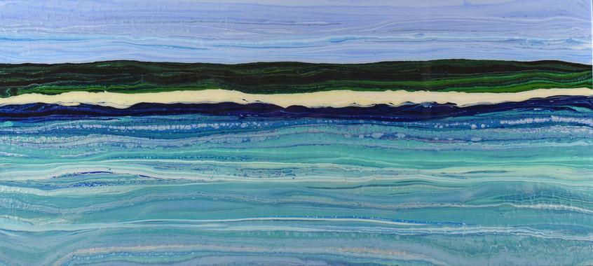 On the sandbar by Chloe Wigg