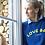 Thumbnail: Sweat femme bleu/jaune