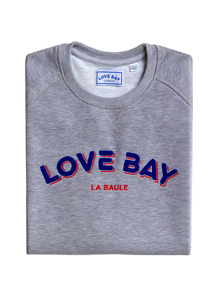 Sweat unisexe gris LOVE BAY - LA BAULE