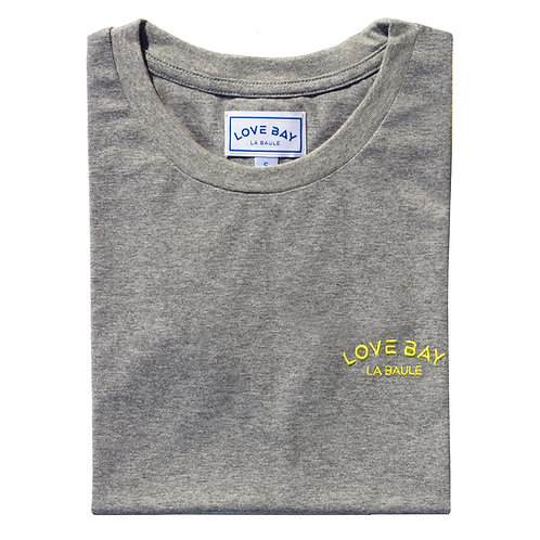 T-shirt femme gris/jaune