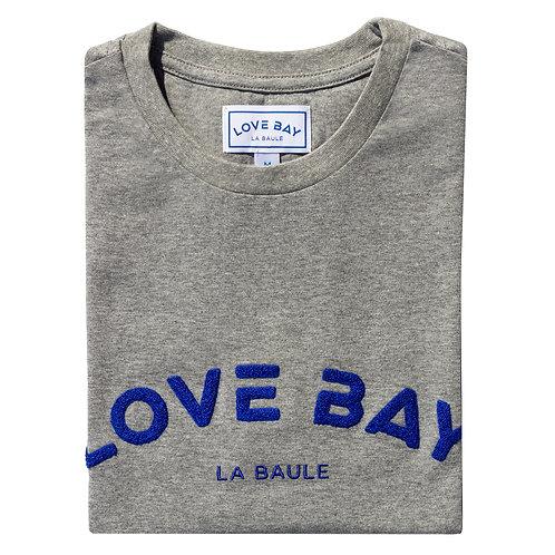 T-shirt homme gris/bleu