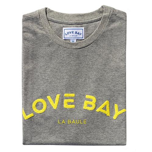T-shirt homme gris/jaune
