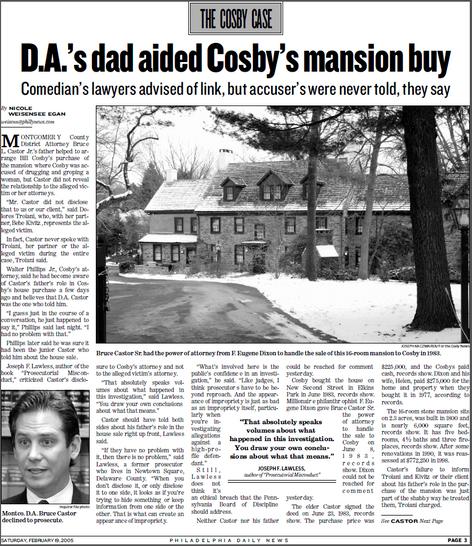 Bill Cosby and the DA's dad