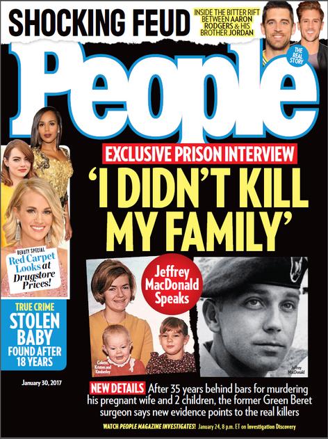 Jeffrey MacDonald exclusive interview cover