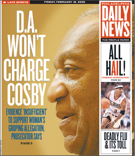 Bill Cosby won't be charged cover story