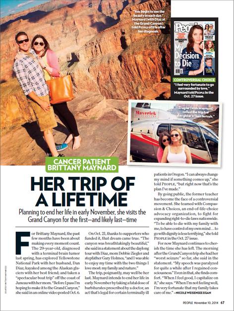 Brittany Maynard's Grand Canyon trip