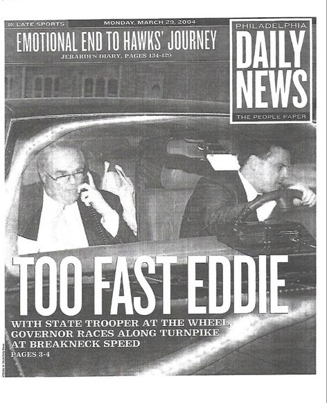 Philadelphia Daily News - Gov Rendell Speeding Exclusive
