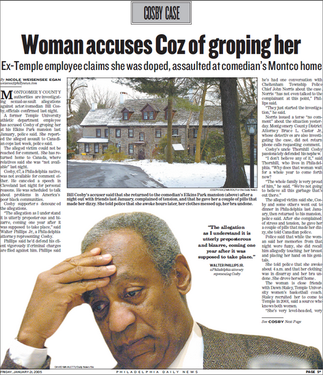 Bill Cosby accused of drugging and sexually assaulting a woman