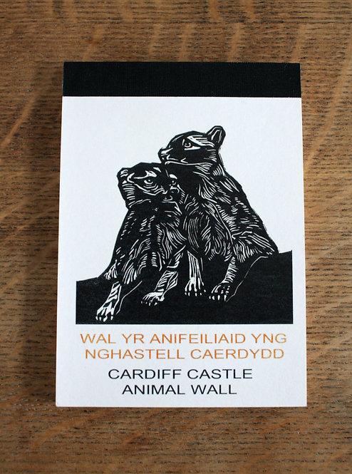 Cardiff Castle Animal Wall Postcard block