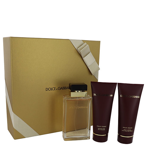 Dolce & Gabbana Pour Femme by Dolce & Gabbana ( Includes Shower Gel + Lotion)