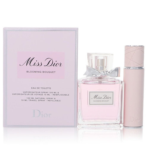 Miss Dior Blooming Bouquet by Christian Dior (Includes Refillable Travel Spray)