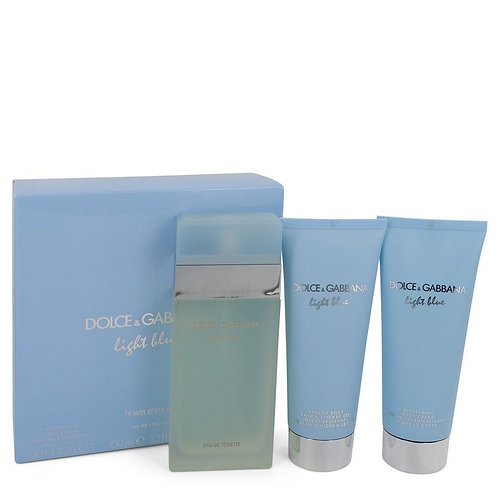 Light Blue by Dolce & Gabbana (includes body cream and shower gel)