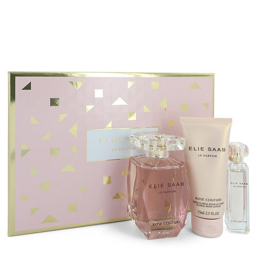 Le Parfum Elie Saab Rose Couture By Elie Saab (Includes Mini Spray & Body Lotion