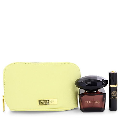 Crystal Noir by Versace Toilette ( includes mini spray and Versace pouch)