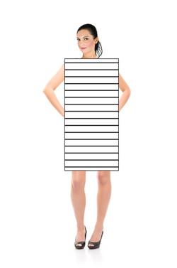 Tette horisontale striper